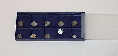 10-pack of Round Positive Rake Carbide Cutting Bits for Brake Lathe Ammco