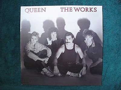 ORIGINAL VINTAGE 1984 Promo Poster Flat Queen The Works  2-Sided NMINT
