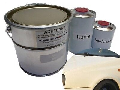 7 Liter Set 2K Car paint RAL 9001 Cream white no clear coat Tuning Lackpoint
