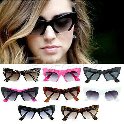 Retro Vintage Men Women Cat Eye Shades Sunglasses Fashion Eyewear Glasses
