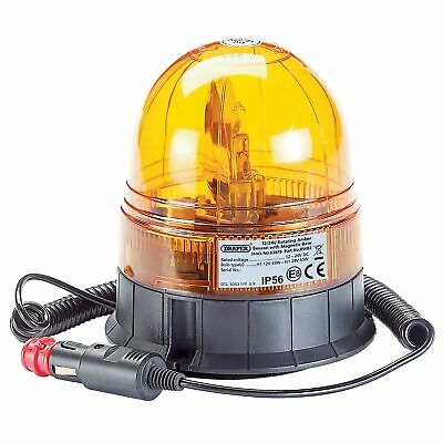 Draper 12/24V Magnetic Base Road Car/Vehicle Rotating Safety Beacon Light- 63878