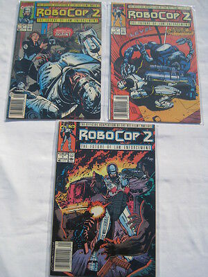 ROBOCOP 2 : COMPLETE 3 ISSUE SERIES of the MOVIE by GRANT & BAGLEY. MARVEL. 1990