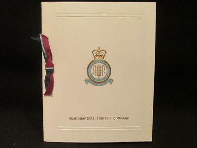 Headquarters Fighter Command Post WWII RAF Christmas & New Year Greeting
