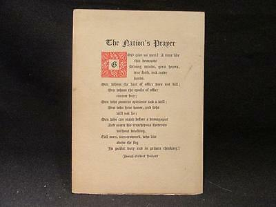 Nation's Prayer Josiah Gilbert Holland Dodge Leaflets early 1900s