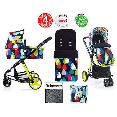 New Cosatto Giggle Pitter Patter 3 In 1 Combi Pram / Pushchair From Birth