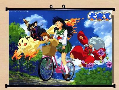 "Anime InuYasha Higurashi Kagome Home Decor poster Wall Scroll 23.6x17.7"" GO1208"