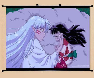 "Japanese Anime InuYasha Roles Home Decor poster Wall Scroll 23.6x17.7"" GO1215"