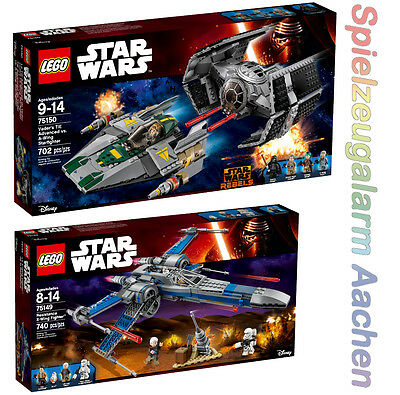 LEGO Star Wars Set 75149 75150 Resistance X-Wing Fighter Vader TIE Advance N16/8