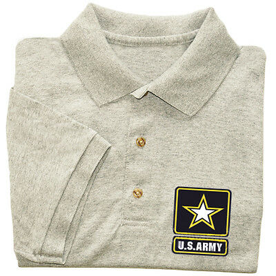US Army polo shirt men's collared button up tee shirt uniform costume army