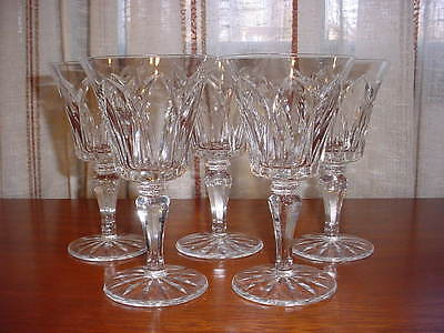 FINE FRENCH CRYSTAL ST. LOUIS  5 WHITE WINE GOBLETS CAMARGUE Pattern.