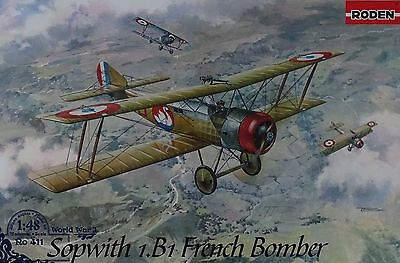 RODEN® #411 WWI French Bomber Sopwith 1.B1 in 1:48