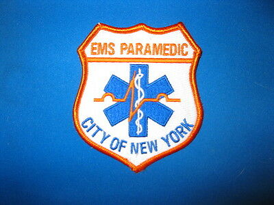 City Of New York Ems Paramedic  Patch