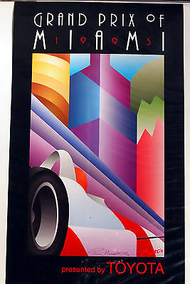 "Ray Masters ""Grand Prix of Miami"" 1995 signed Poster"