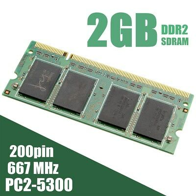 2GB DDR2-667MHz PC2-5300 SODIMM 200pin Non-ECC Memory RAM For Laptop PC Computer
