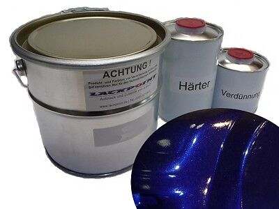 3,5 L. Set 2K Car paint Dark Blue Metallic Blue no clear coat Lackpoint Tuning