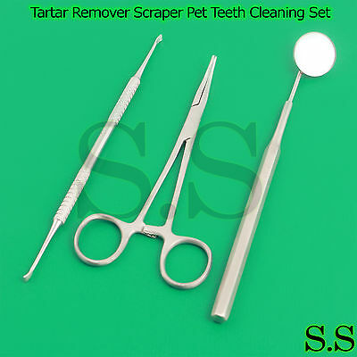 Dog Ear Hair Puller Forceps Tartar Remover Scraper Pet Teeth Cleaning