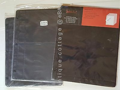 """LOT of 3 packages UNUSED RAIKA REFILL PAGES #161-B/C 9""""x11.25"""" 3-ring binder 36p"""