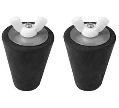 Swimming Pool Winter Pool Rubber Expansion Plug for Return Skimmer #3 Set of 2