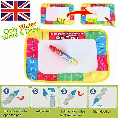 Aquadoodle AquaDraw Kids Water Magic Classic Drawing Mat With Pen Toy  Kids Baby