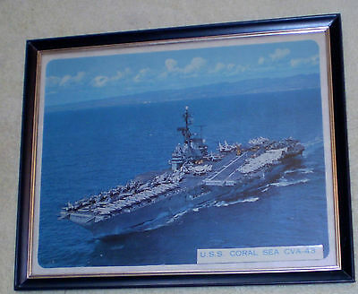 Framed 8x10 Colored Photo of the U.S.S. Coral Sea
