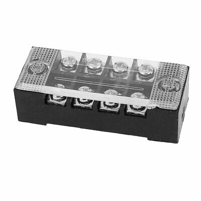 600V 15A 4P Dual Row Electric Barrier Terminal Block Cable Connector Bar