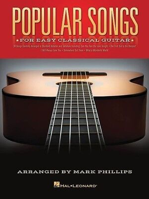 Popular Songs For Easy Classical Guitar Book *NEW* 20 Songs, Sheet Music