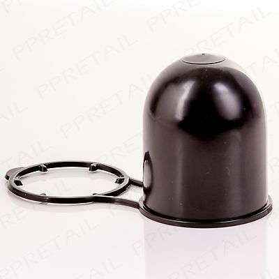 BLACK CAR/VAN TOW BAR BALL CAP 50mm Towing Hitch Grease Cover Towbar Protector