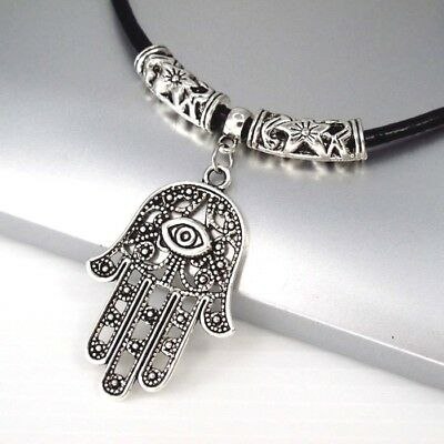 Silver Stainless Round Swirl Spiral Pendant Brown Leather Surfer Tribal Necklace