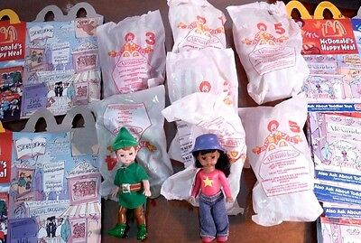 Huge LOT 8 Madame Alexander Dolls + 17 matching McDonald's Happy Meal Boxes 2001