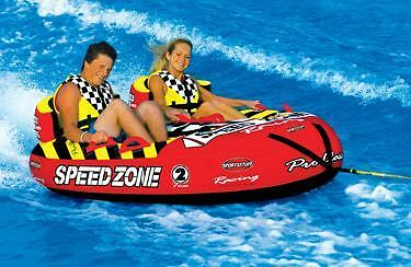 Sports Stuff Speedzone 2 Towable Ski Tube Inflatable Biscuit Boat Ride