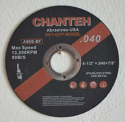 "50pcs 4-1/2""x.040""x7/8"" Cut-off Wheel  Stainless Steel & Metal Cutting Disc"