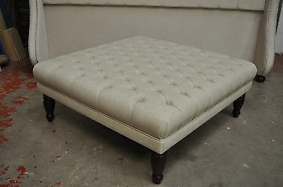 Extra Large 100Cm X 100Cm X 42Cm Ottomans  Footstools Coffee  Table  Buttoned