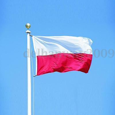 3' x 2' Poland Polish Polska National Flag Banner Football Olympic Fan Supporter