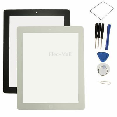 For iPad 3 3rd 4 4th Replacement Touch Glass Screen Digitizer+Home Button+Tools