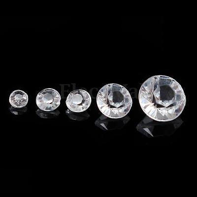 500Ps Acrylic Diamond Table Confetti Wedding Crystal Scatter Decoration 3~10mm