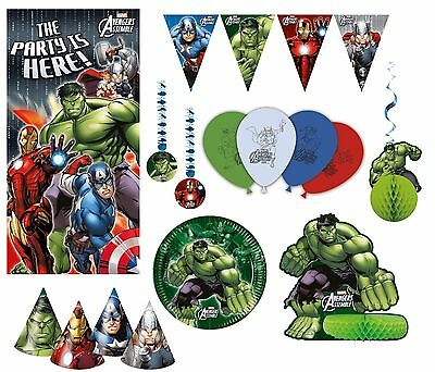 Marvel Avengers Assemble MUTLI HEROES Birthday Partyware & Decorations