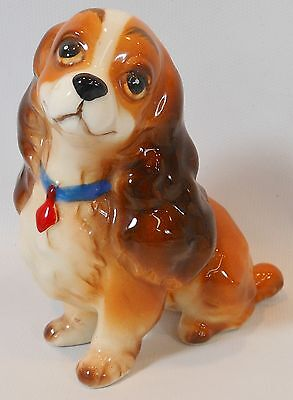 "Walt Disney Vintage Lady and the Tramp Ceramic Figurine 3 1/2"" Made in Japan"