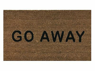"""Go Away"" Doormat by Castle Mats Size 18 x 30 inches Non-Slip Durable Made Us..."