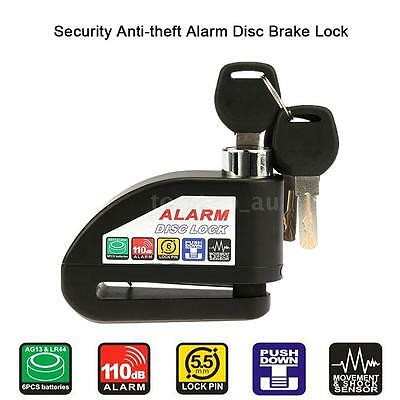 Motorcycle Scooter Disc Brake Lock Security Anti-theft Alarm Lock with key X9J0