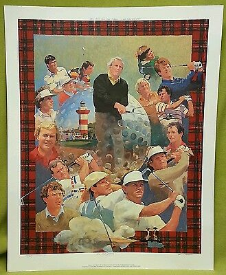 1993 Heritage Classic Lithograph Poster JACK NICKLAUS ARNOLD PALMER golf signed