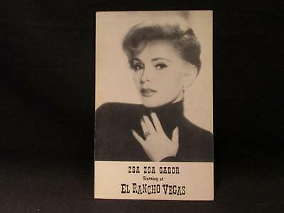 Zsa Zsa Gabor Starring at El Rancho Vegas 1950s Postcard 8 X 5 inches