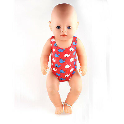 1set swim Doll Clothes Wearfor 43cm Baby Born zapf (only sell clothes ) B487