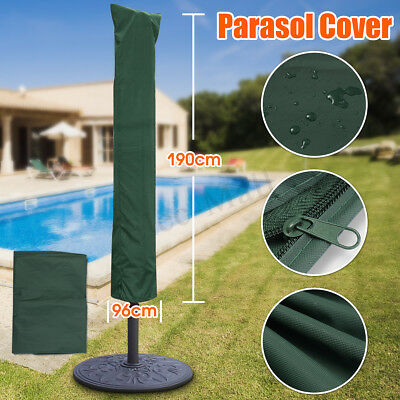 Garden Patio Parasol Umbrella Cover Bag Green Fit 7ft Umbrella +Draw String Neck