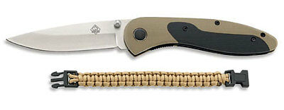 Puma Tec One-Hand Folding Knife Paracord Bracelet Belt Clip / 7335311 Camouflage