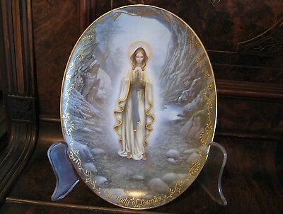 Collectable Our Lady of Lourdes - First Plate in Our Lady Series