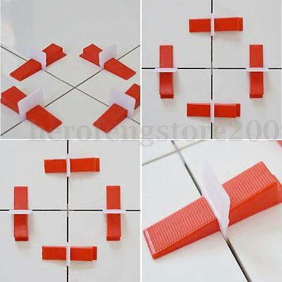 400 Tile Leveling System 300 Clips + 100 Wedges Plastic Spacers Tiling Tools