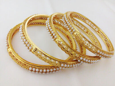 Indian Fashion Jewelry Bangle bollywood ethnic gold plated traditional churiya