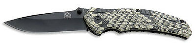 Puma Tec One-Hand Pocket Folding Knife / Belt Clip / 7311611 Snake Snakeskin