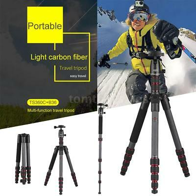 "Professional 60"" Carbon Fiber Portable Travel Tripod for DSLR Camera Camcorder"