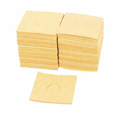 50 Pcs 60mm x 60mm Welding Station Soldering Iron Cleaning Sponge Pad Thick